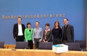 Das Projektteam der Umweltbewusstseinsstudie: Gerd Scholl, Angelika Gellrich (UBA), Richard Hanisch, Brigitte Holzhauer, Maike Gossen, Michael Schipperges